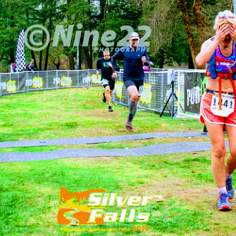 Coach A at Silver Falls Trail Marathon Finish.