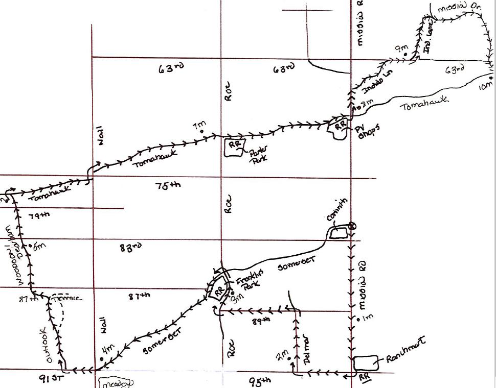 A 20 mile run through beautiful Prairie Village, OP, and Mission Hills