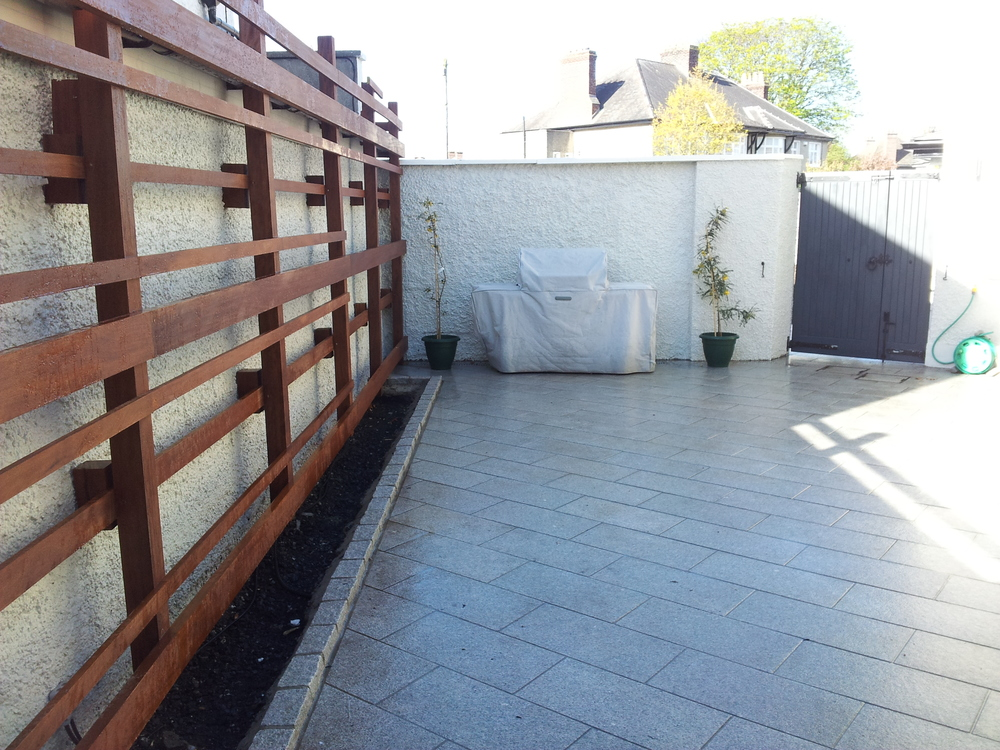 Newly Landscaped patio area
