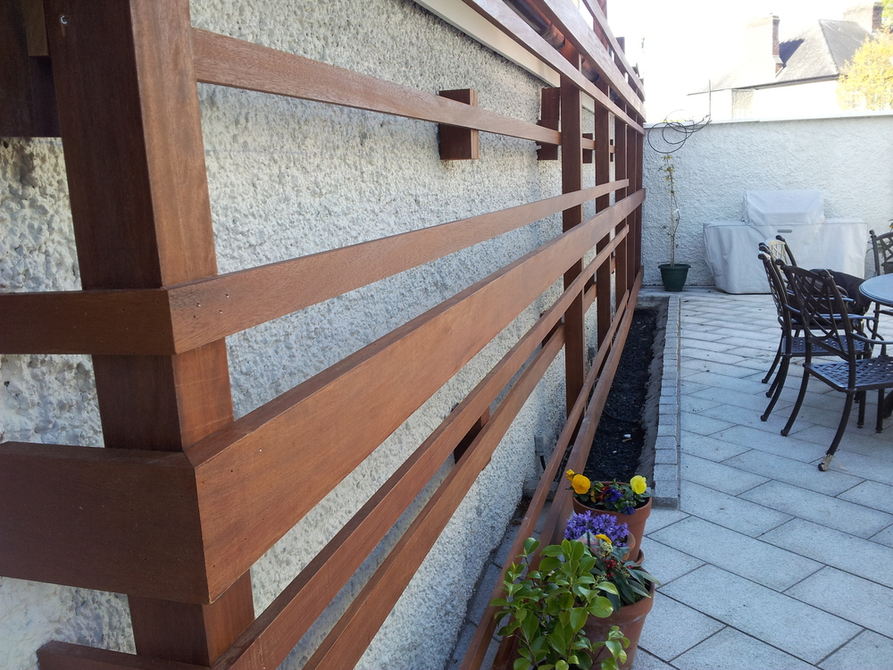 Hardwood Garden Screen