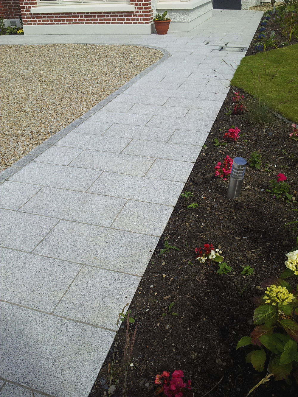 granite path and Driveway