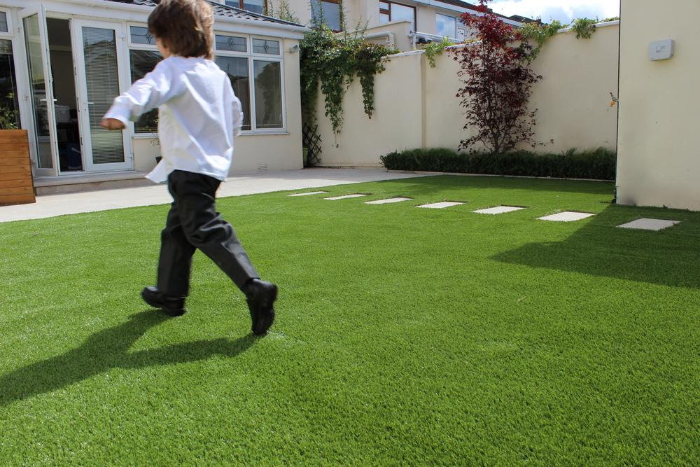 Kid running in circles