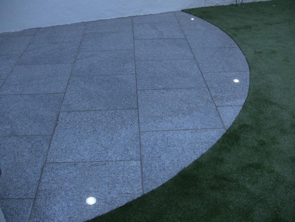 Deck lights in patio