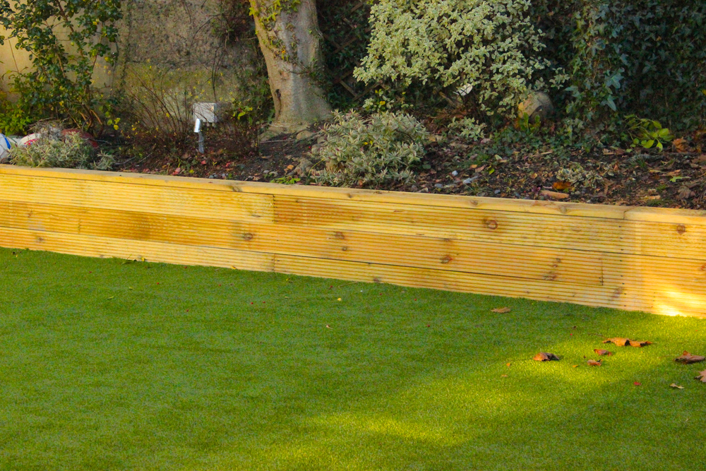 Deck cladding and Grass