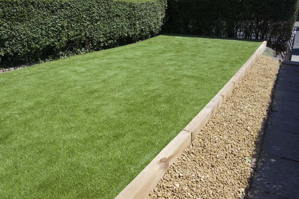 sloping lawn