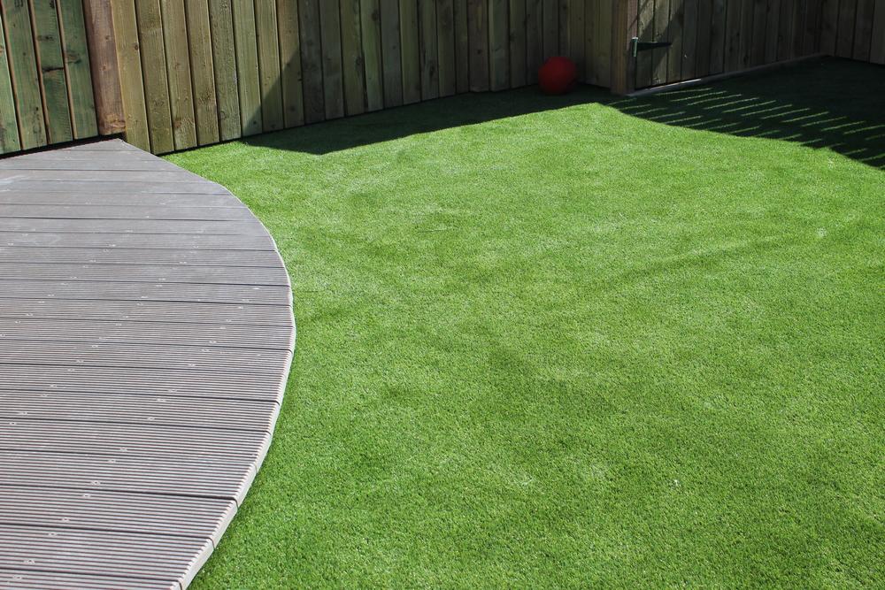 Deck and Garden Lawn