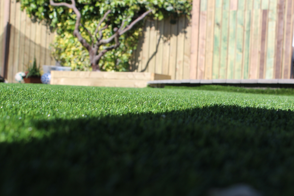 artificial grass in the shade