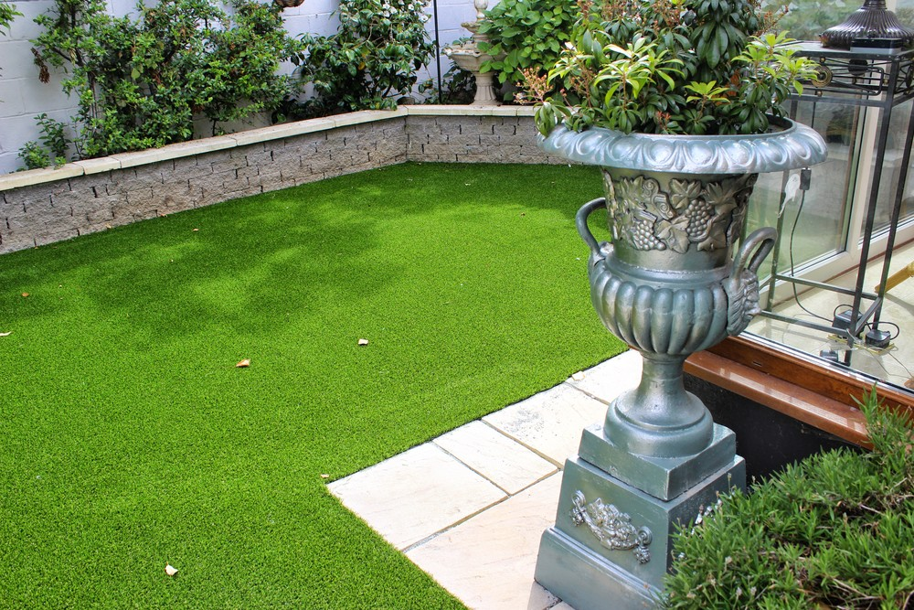 Garden Urn and Turf