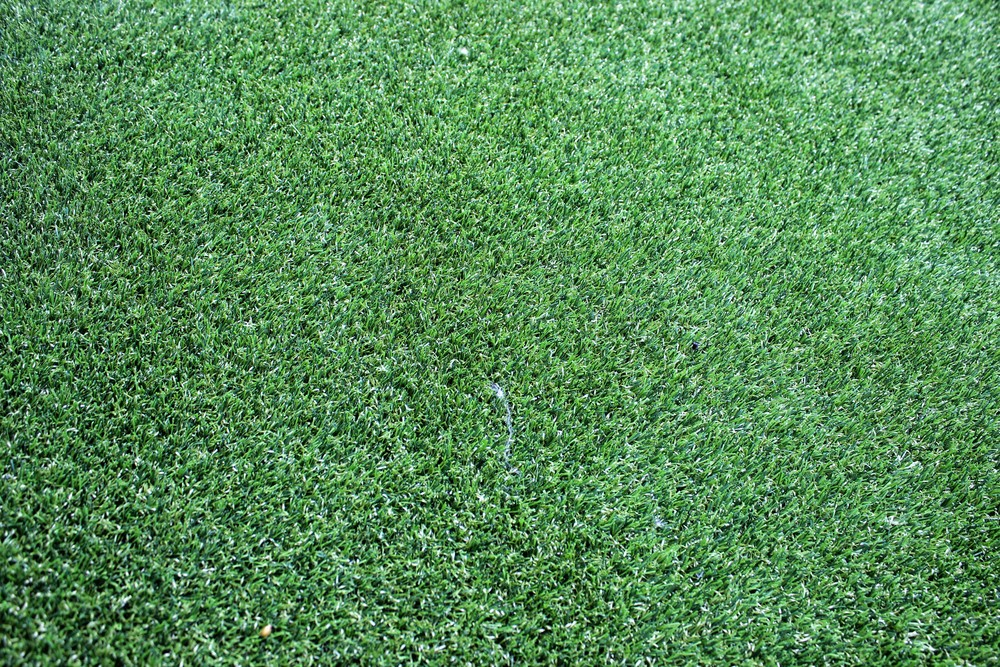close up of astro turf lawn