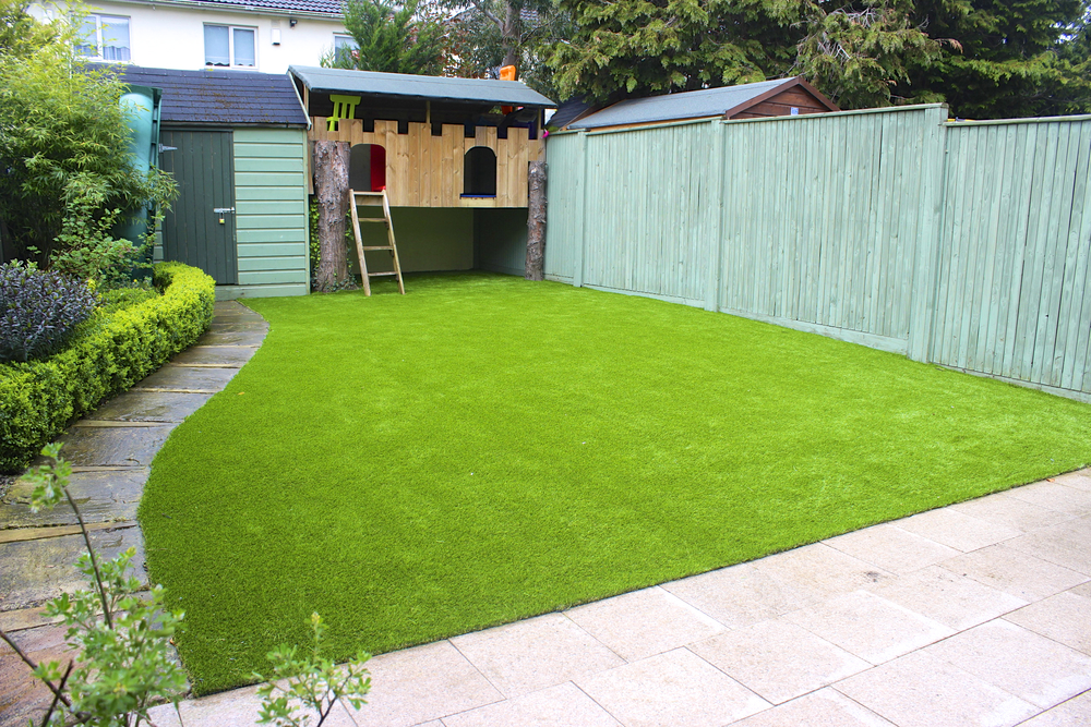 Patio and turf