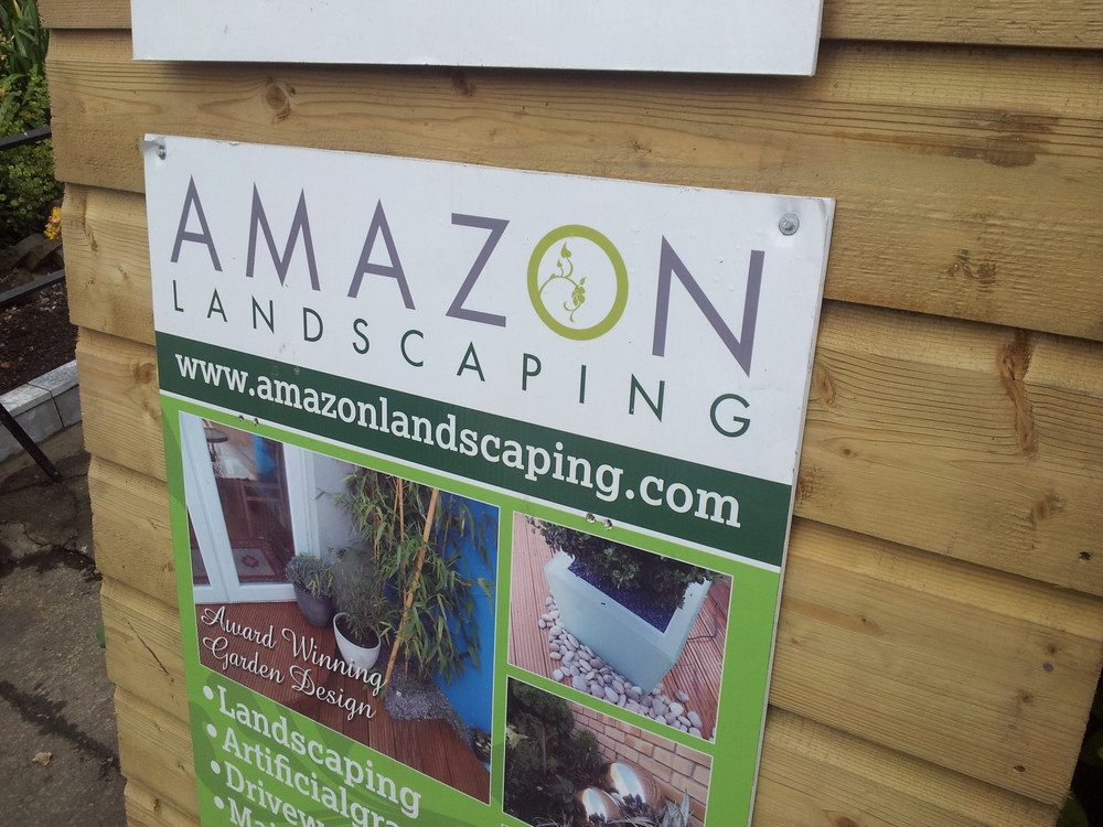 Amazon Landscaping sign