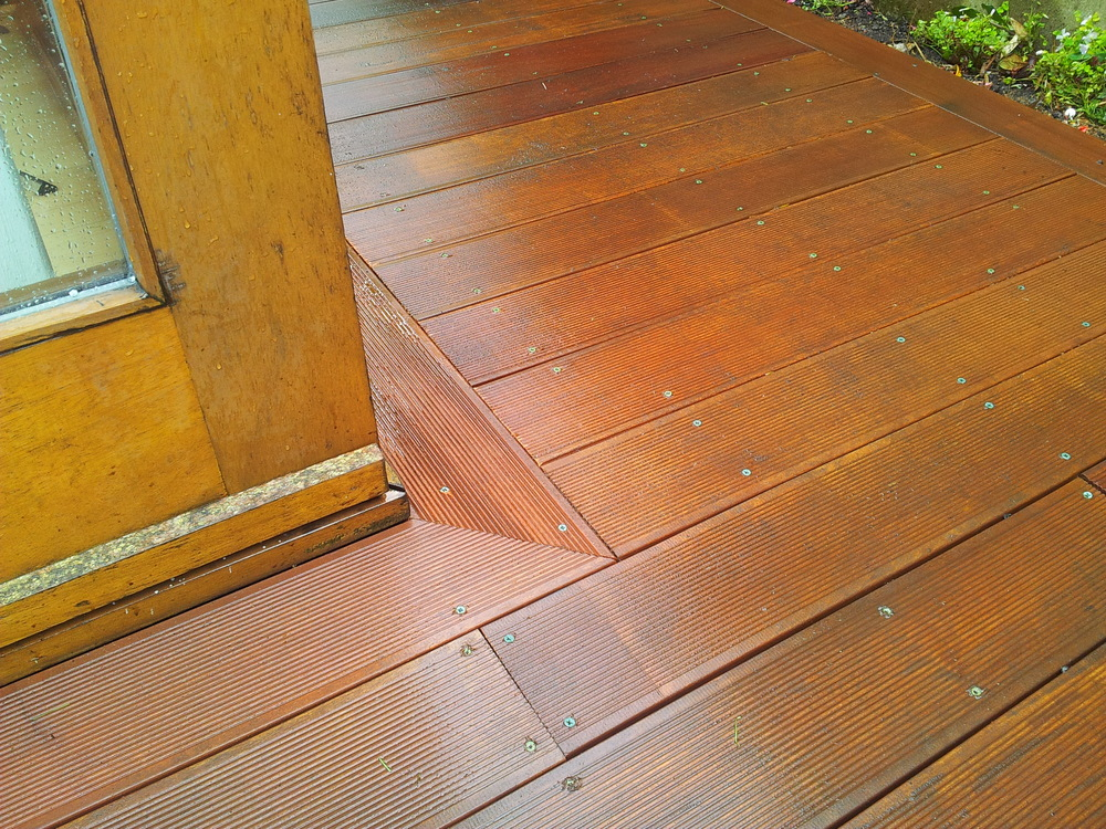 hardwood deck boards