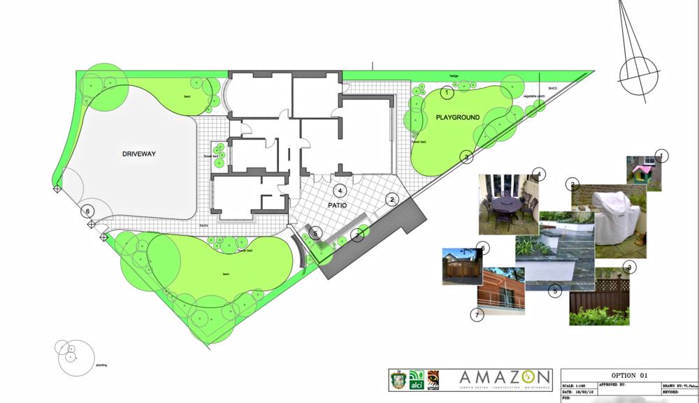 landscape construction plan