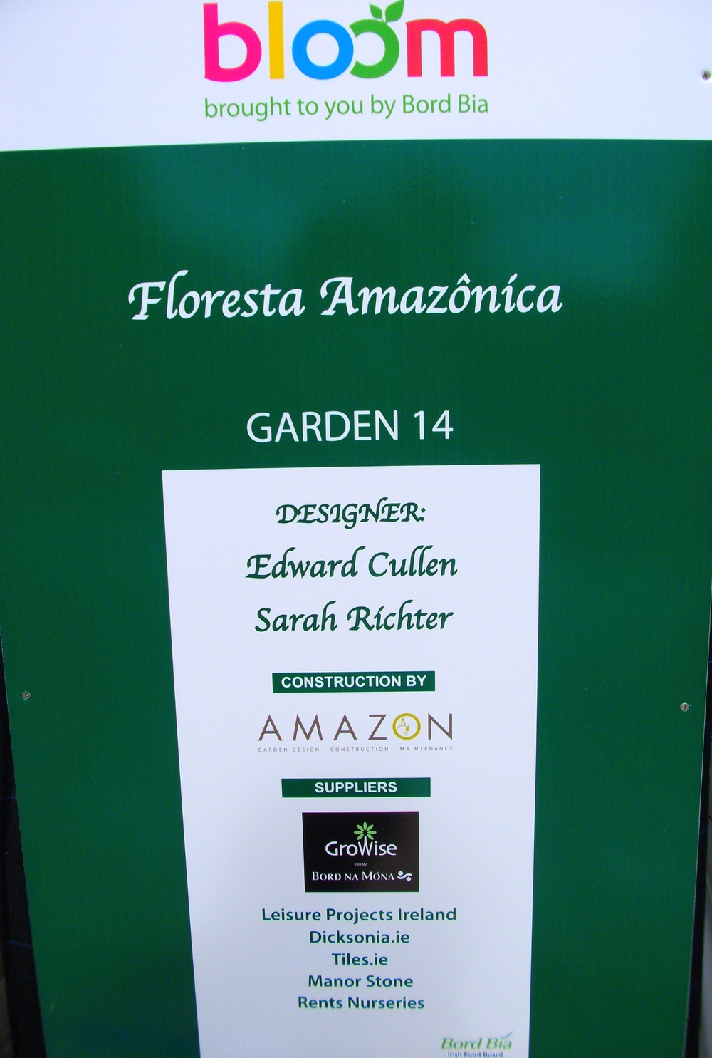 Garden Sign at Bloom