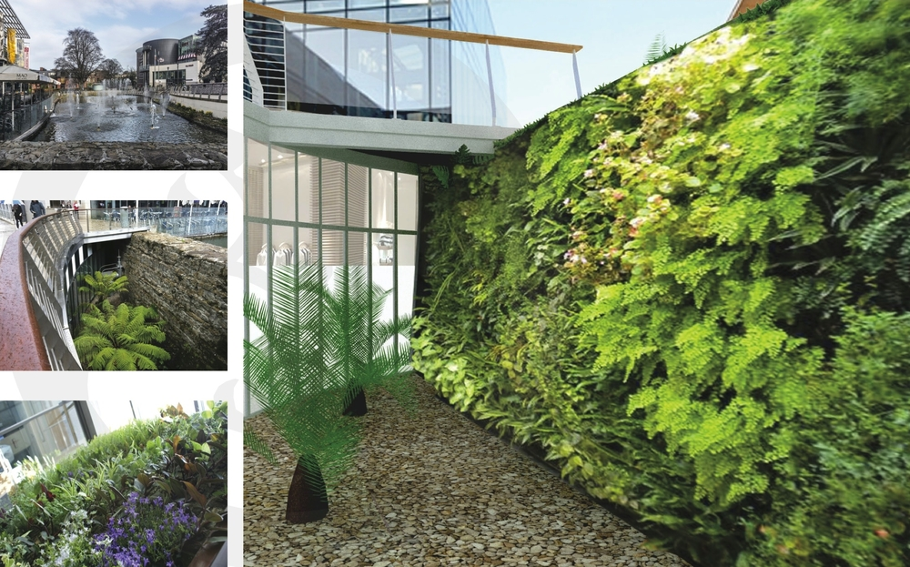 Living walls for Dundrum