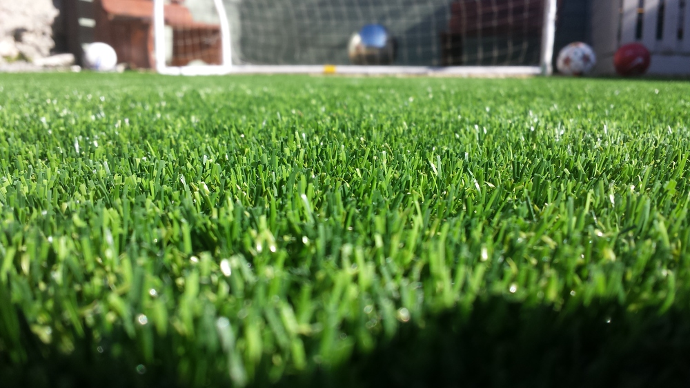 close up of astroturf