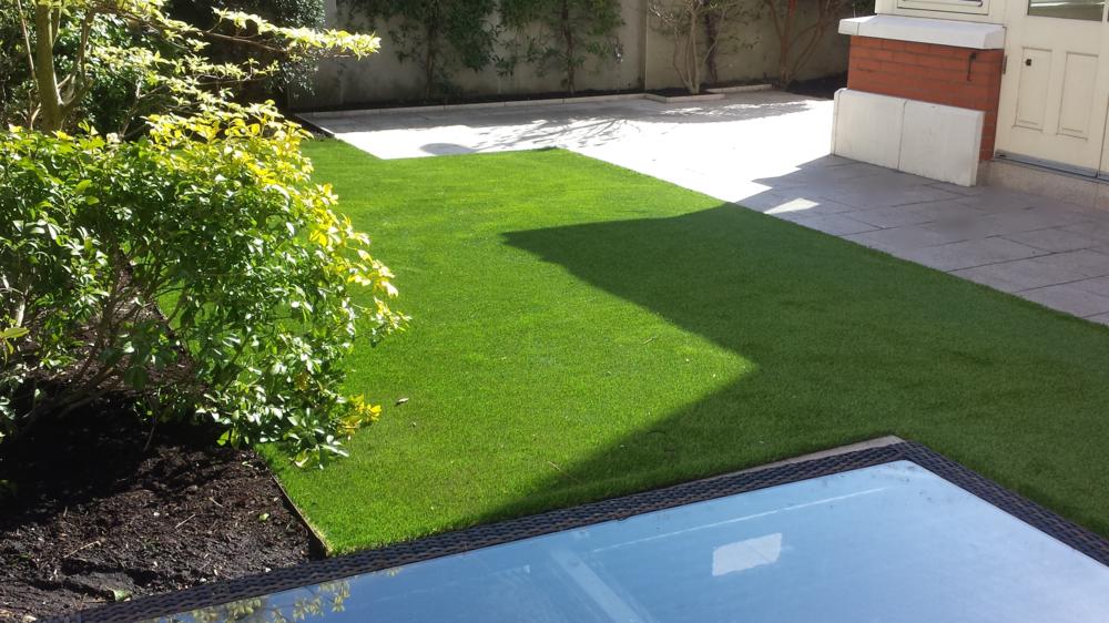 garden featuring tigerturf finesse deluxe