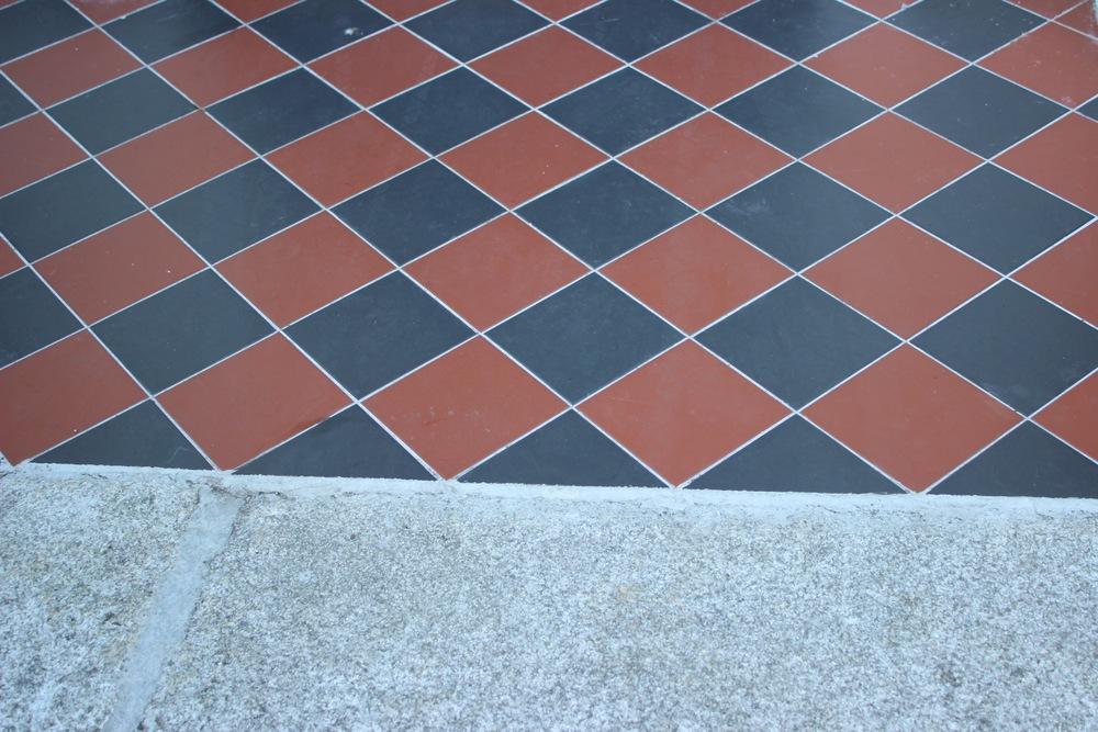 Victorian tile step in Ranelagh Dublin 6