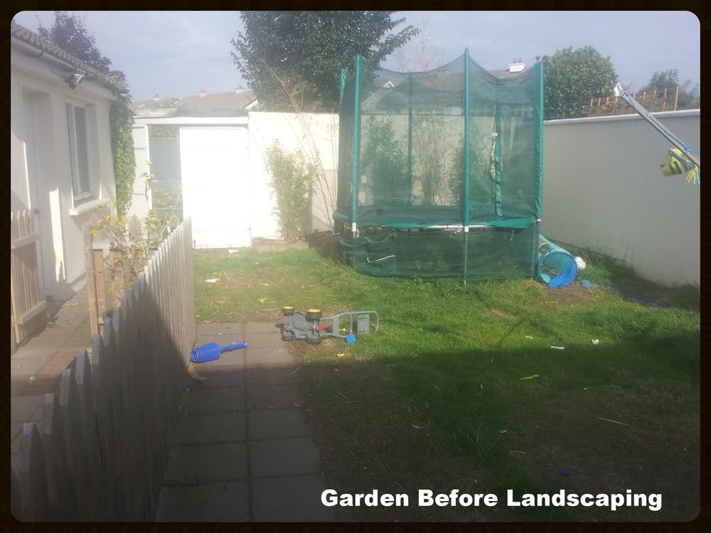 Trampoline in Garden before Landscaping.jpg