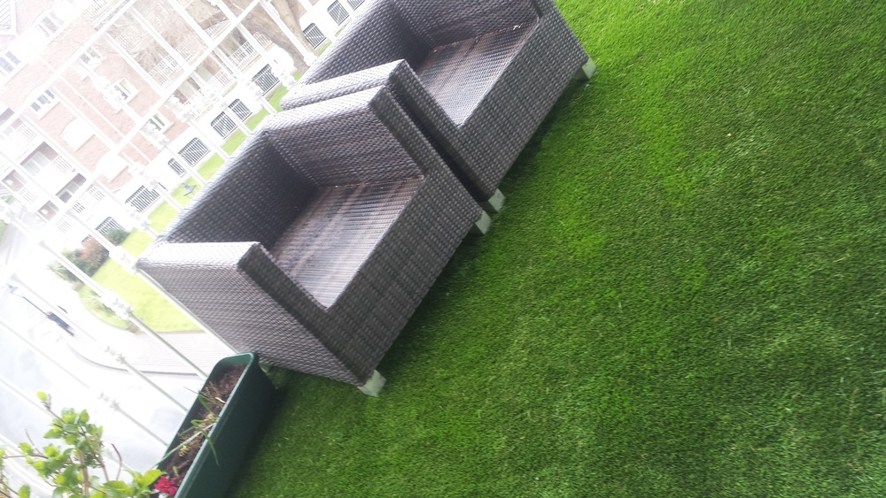 Garden furniture on balcony