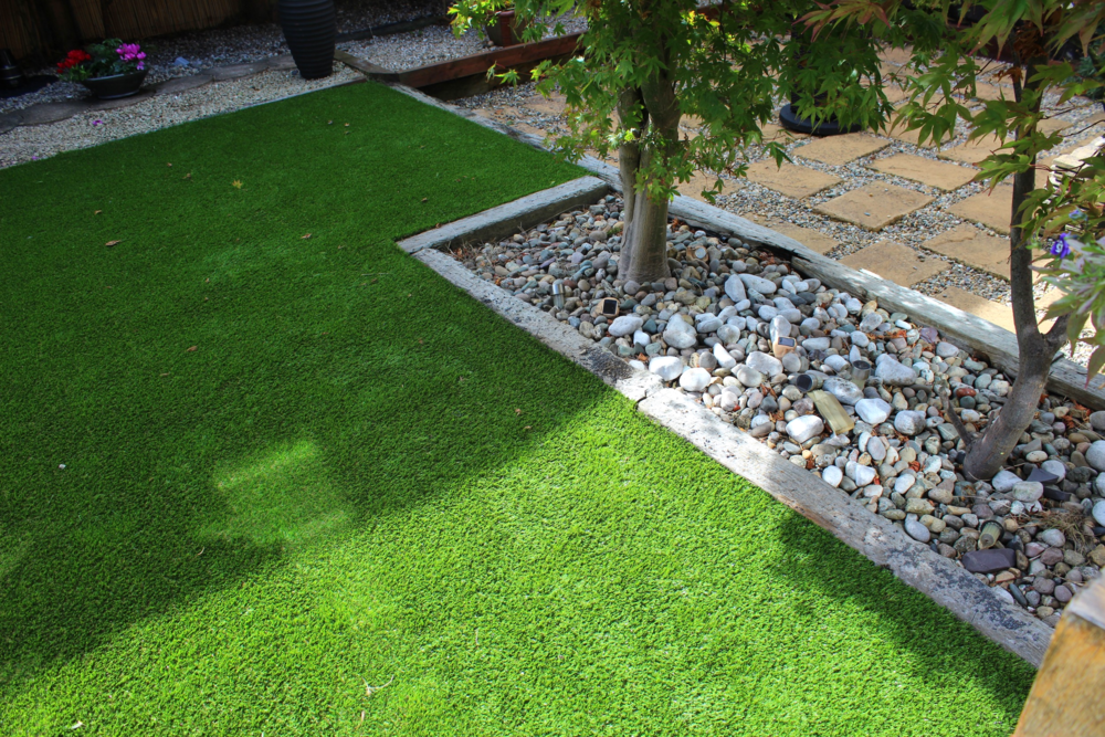 TigerTurf artificial lawn service in Dublin garden