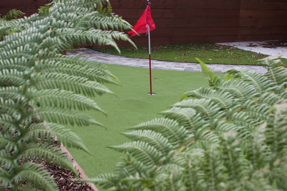 fern and golf flag