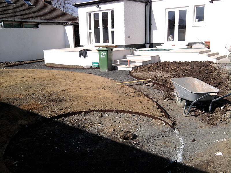 Garden during landscaping, Dundrum, Dublin.jpg