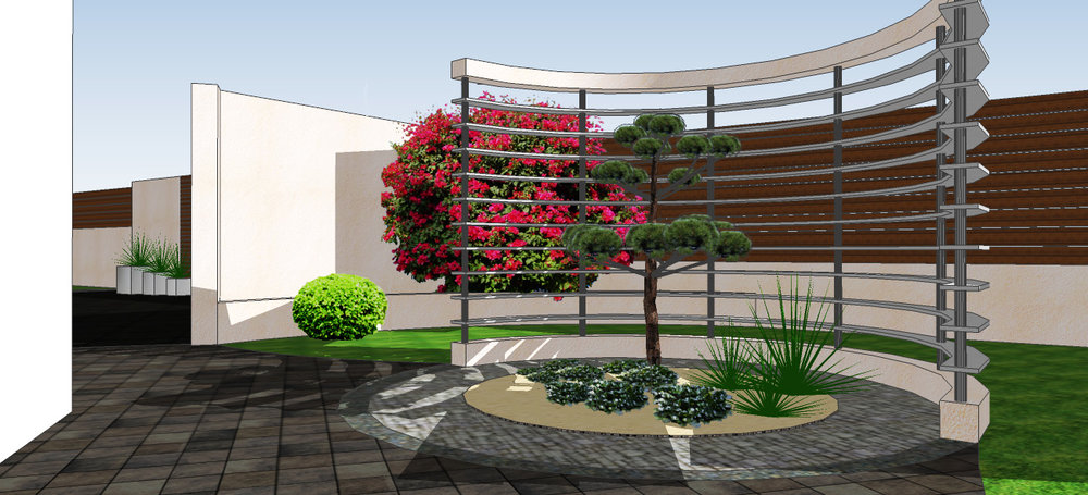 Contemporary 3D Garden Design