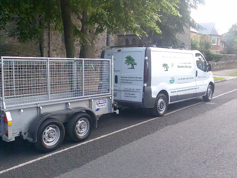 garden maintenance van and trailor