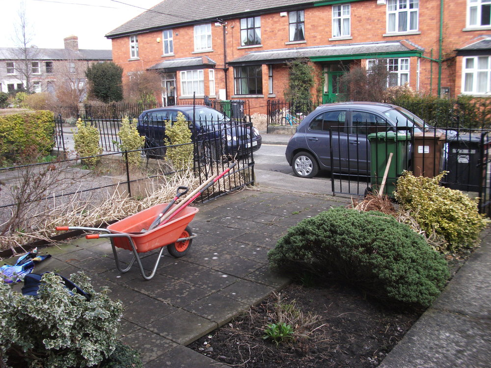 front garden before landscaping in dublin 6.JPG