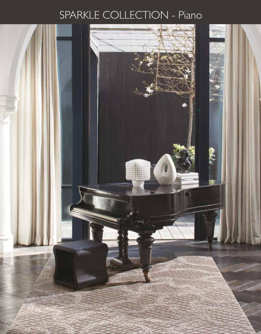 SPARKLE PIANO  Silk & Wool & Viscose & Lurex