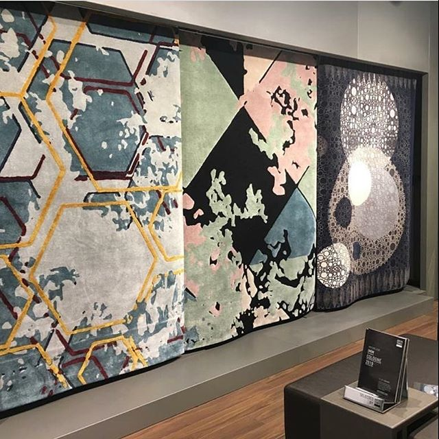 Honeycomb, Maximillian and Moonlight collections on display at IMM Cologne 2019. New year kicks off with a dazzling ✨new collection. #luxuryrugs #luxuryinteriors #rugsofinstagram #newcollection #bespokerugs #luxurycarpet #arearugs #interiors #luxurydecor