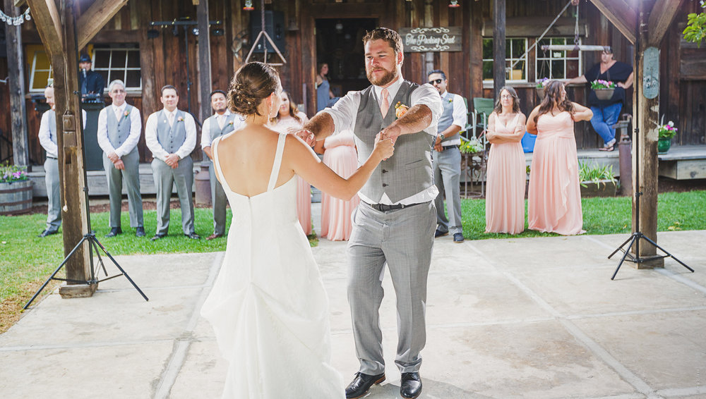 Their first dance as Mr. and Mrs.