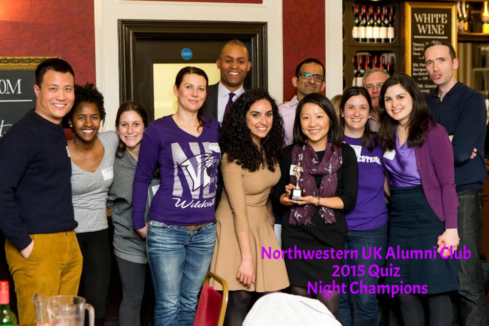 Northwestern - 2015 Quiz Night Champions