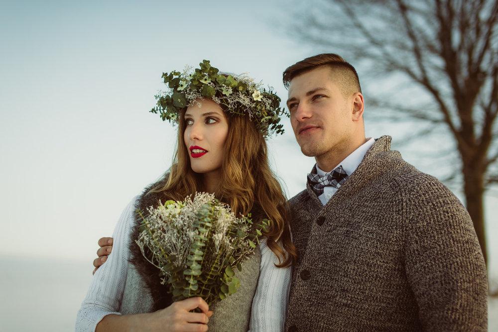 Fotografia ślubna Zakopane - Zimowy Plener Ślubny - Klaudia & Rafał