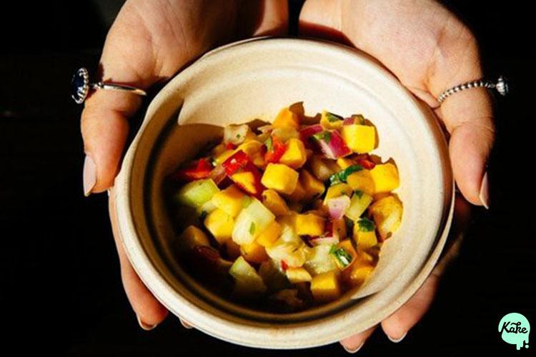 Delicious mango salsa from BuzzBait Taqueria