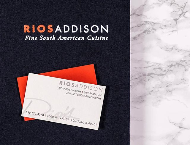 Business cards and T-shirt's for our favorite place for fine South American cuisine @riosaddison 💃🏽 . . . . . . . . . #kake #poweryourbrand #behance #graphicdesignblh #dribble #brandidentity #minimaldesign #lovelysquares #productphotographer #productshoot #productphotography #propstyling #photostyling #creativepreneur #papergoods #paperlove #commercialphotography #studiophotography #brandstrategy #socialmediastrategy #socialmediaagency #contentmarketing #digitalagency #visualidentity