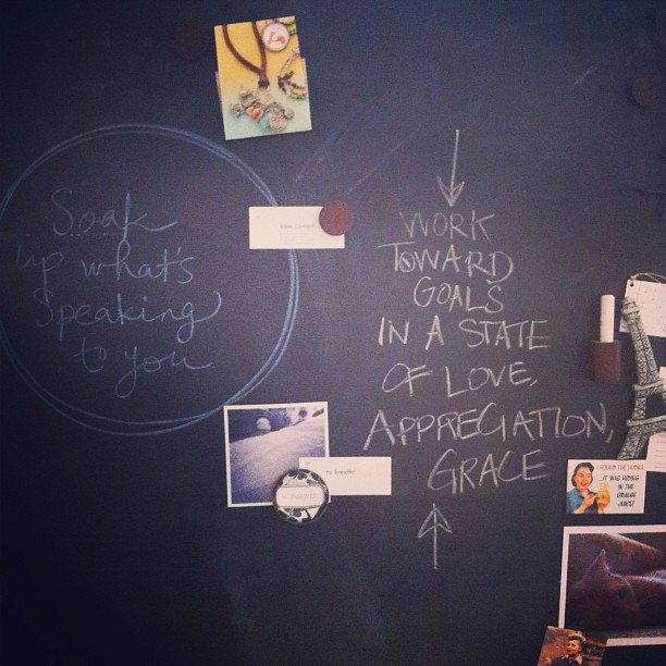 chalk board reminders