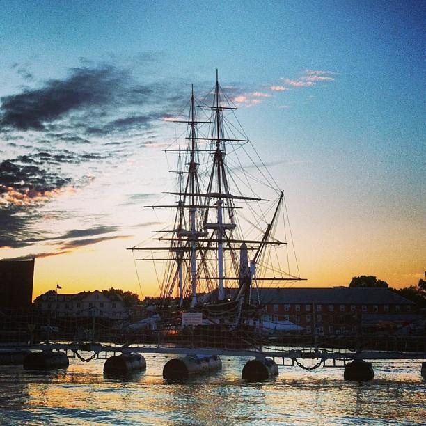 sundown in the harbor
