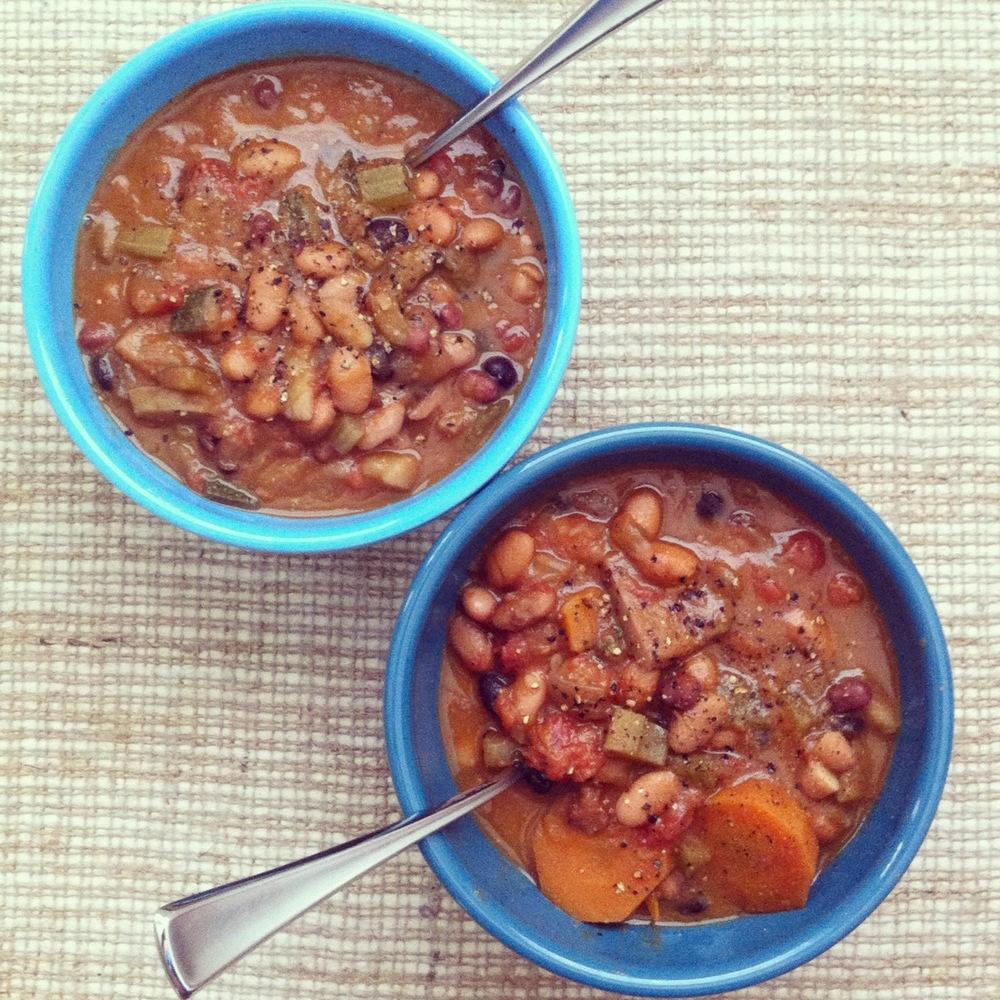 bean and veggie chili