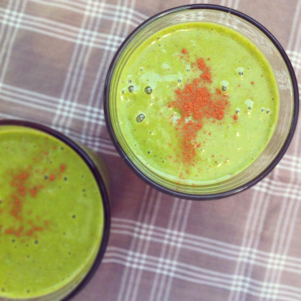 punkin spice green smoothie