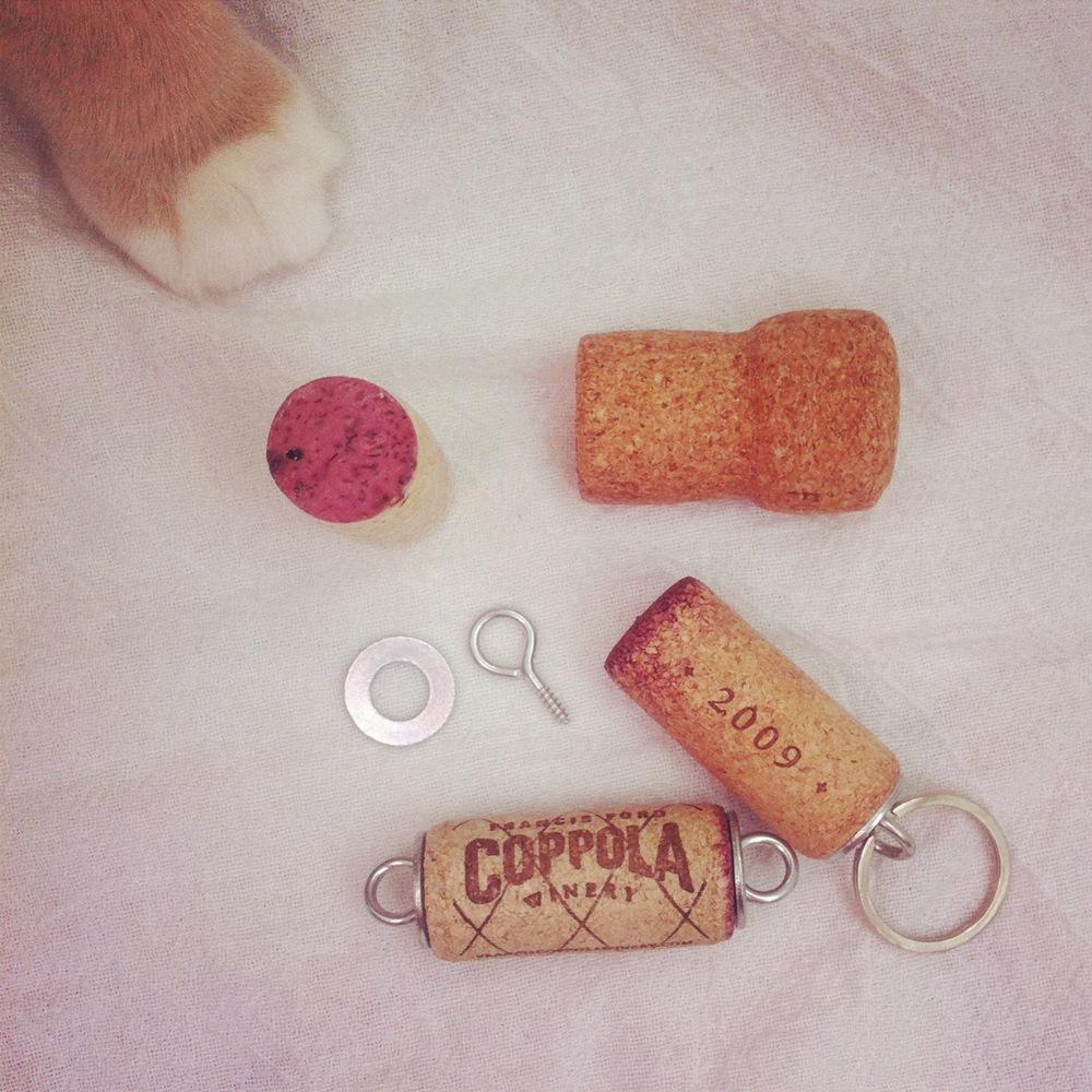Cork Keyring