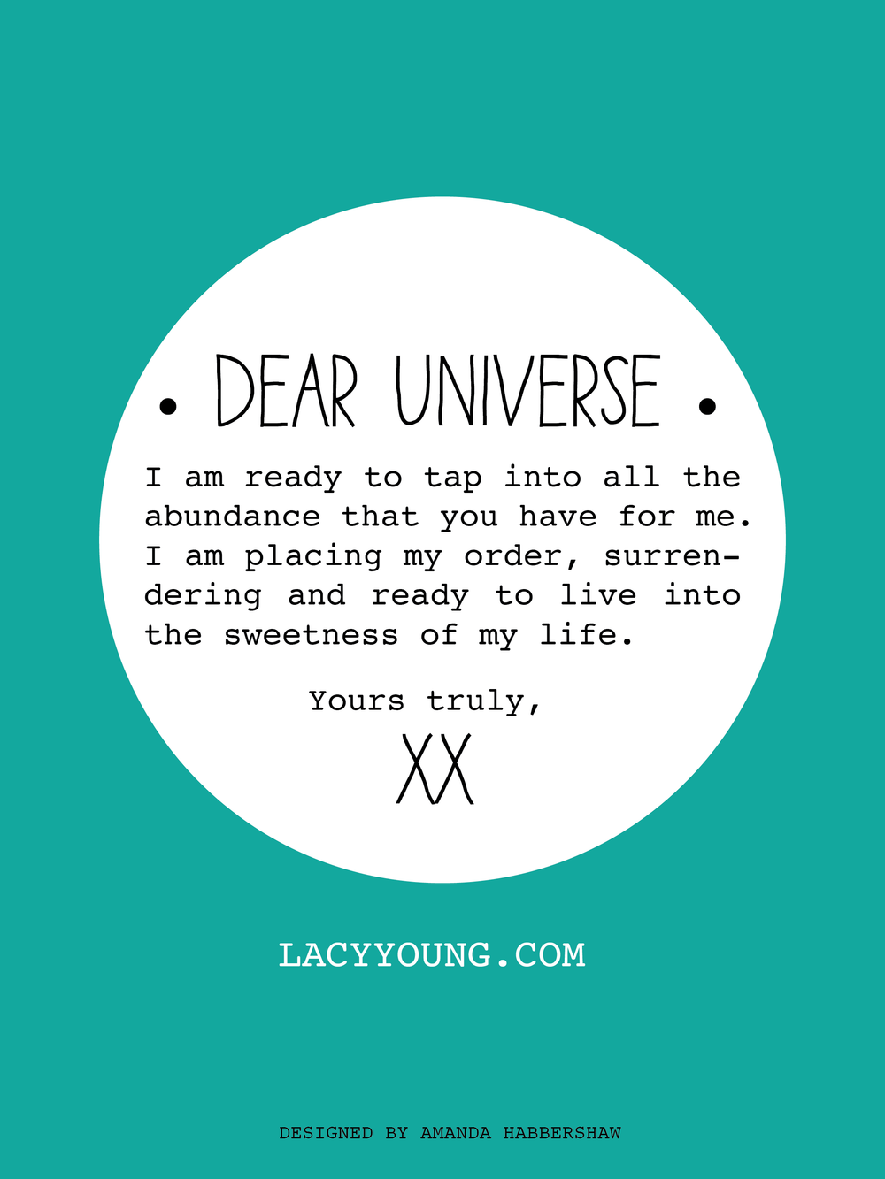 TheBest Thing: Placing Your Order with the Universe