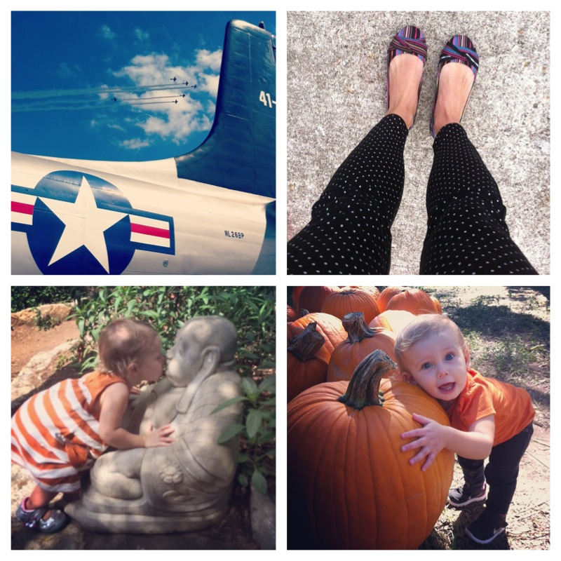 Leggins in, punkin patch, air show