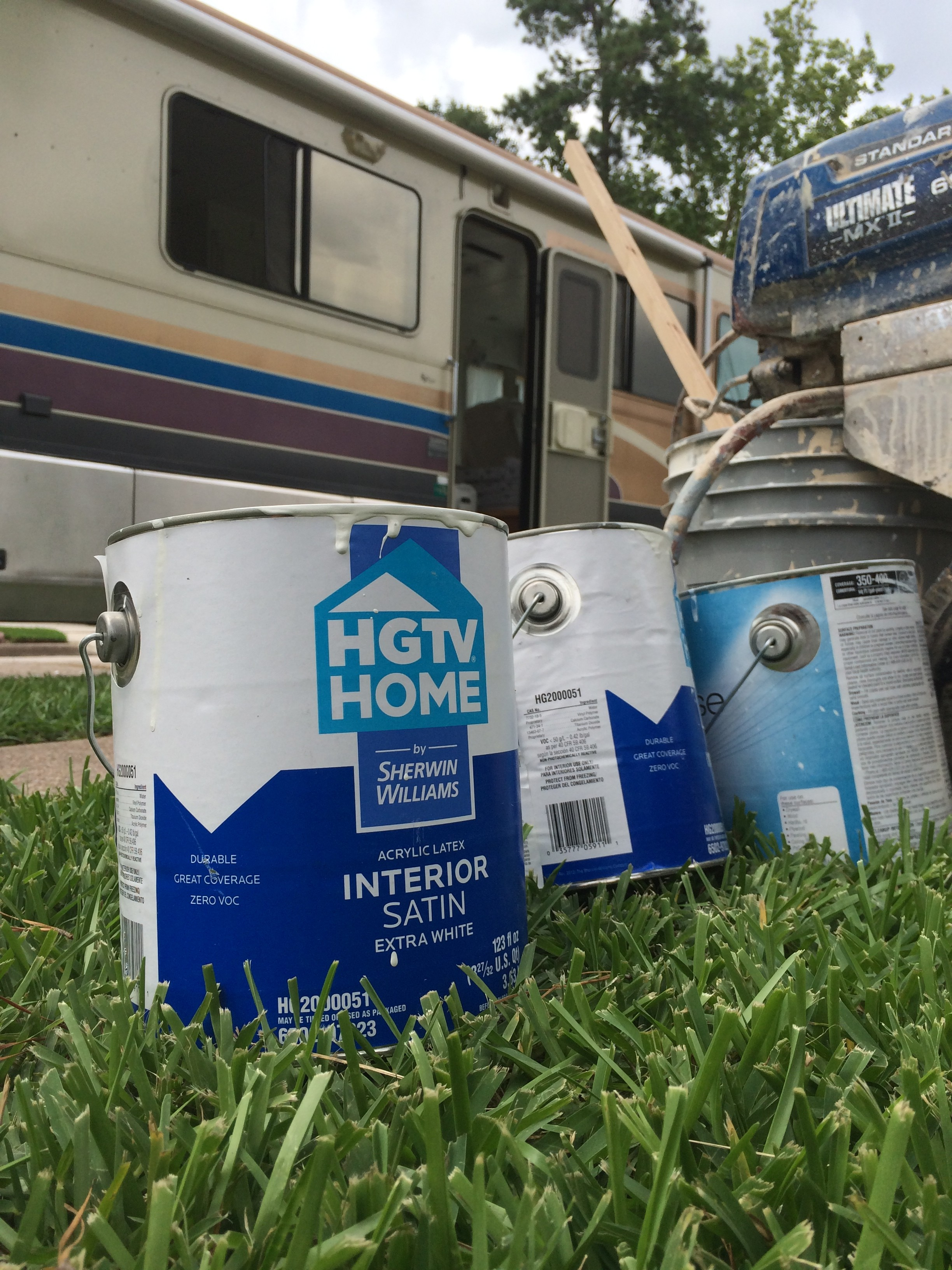 Lacy Young RV Reno Project with HGTV paint