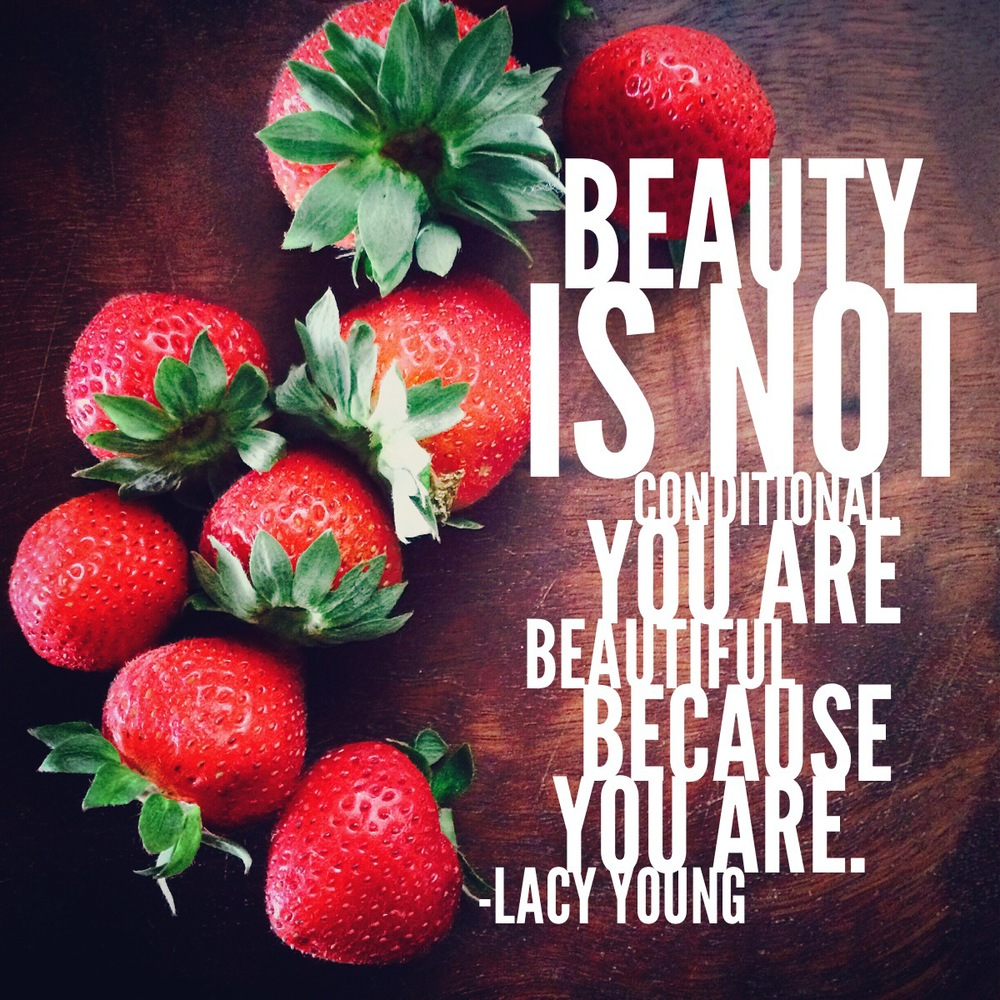beautiful because you ARE