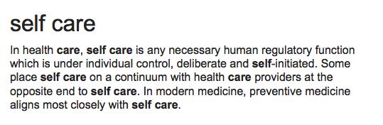 self care defination