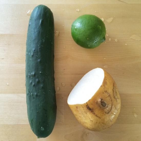 Cucumber Jicama Slaw Ingrediants | Lacy Young