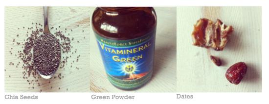 chia/greens/dates