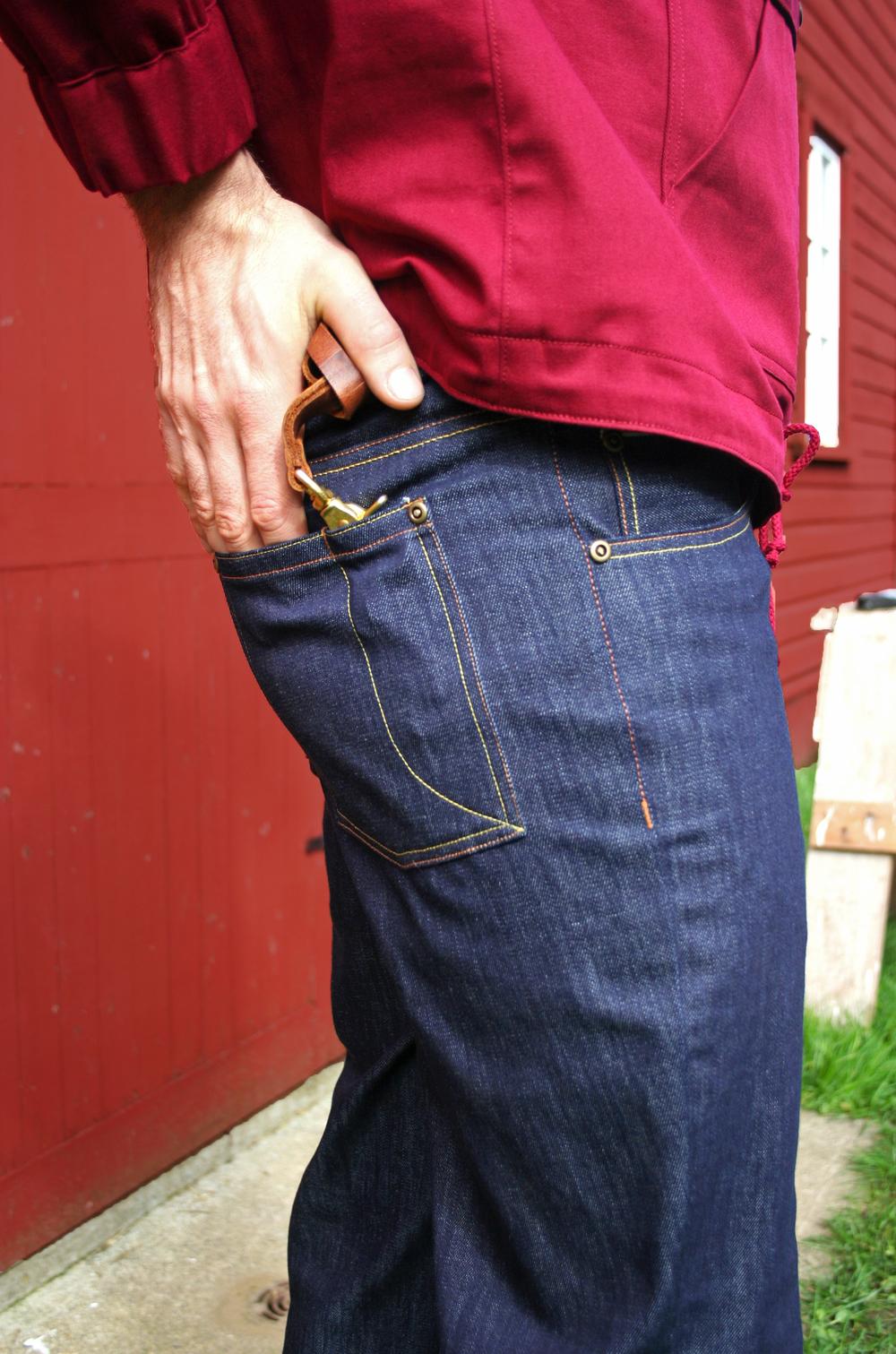 Straight edge jean